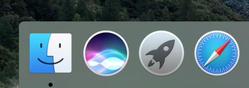 Siri Dock OS X 10.12
