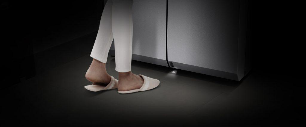 capteur pied frigo connecté LG