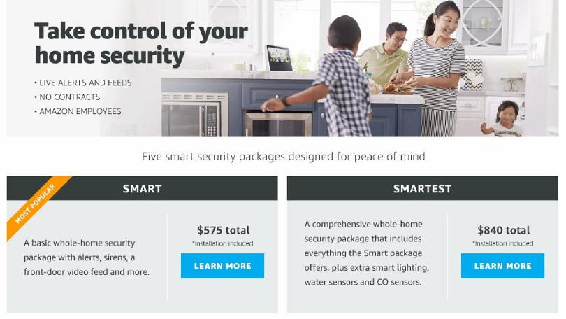 amazon service de sécurité de la maison