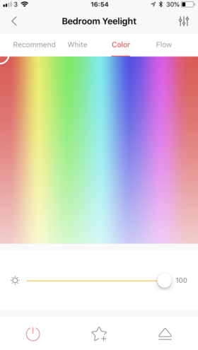 couleurs ampoule yeelight application iOS