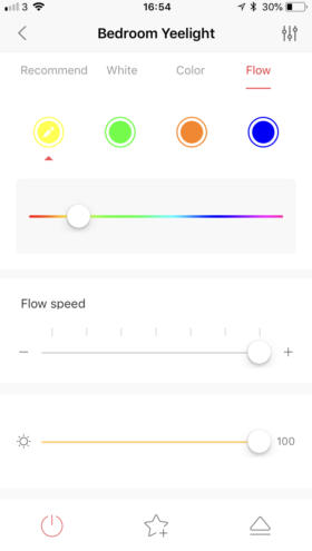 flow mode ampoule yeelight application iOS